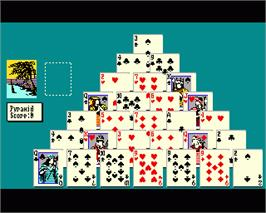 In game image of Solitaire Royale on the Commodore Amiga.