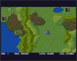 In game image of Sorcerer Lord on the Commodore Amiga.