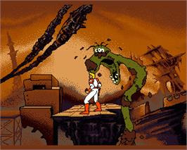 In game image of Space Ace on the Commodore Amiga.