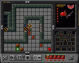 In game image of Space Crusade: The Voyage Beyond on the Commodore Amiga.