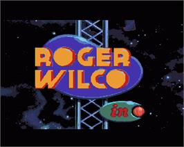 In game image of Space Quest I: Roger Wilco in the Sarien Encounter on the Commodore Amiga.