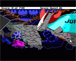 In game image of Space Quest III: The Pirates of Pestulon on the Commodore Amiga.