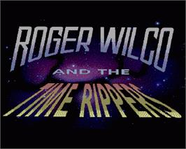 In game image of Space Quest IV: Roger Wilco and the Time Rippers on the Commodore Amiga.