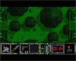 In game image of Special Forces on the Commodore Amiga.