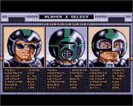 In game image of Speedball on the Commodore Amiga.