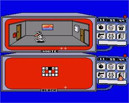 In game image of Spy vs. Spy on the Commodore Amiga.