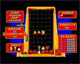 In game image of Stack Up on the Commodore Amiga.