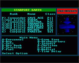 In game image of Star Command on the Commodore Amiga.
