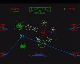 In game image of Star Wars: Return of the Jedi on the Commodore Amiga.