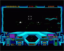In game image of Starglider on the Commodore Amiga.