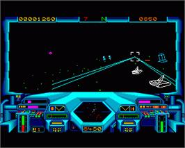 In game image of Starglider 2 on the Commodore Amiga.