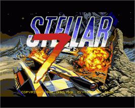 In game image of Stellar 7 on the Commodore Amiga.