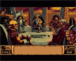 In game image of Storm Master on the Commodore Amiga.