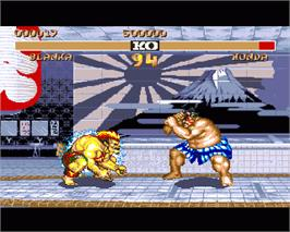 In game image of Street Fighter II - The World Warrior on the Commodore Amiga.