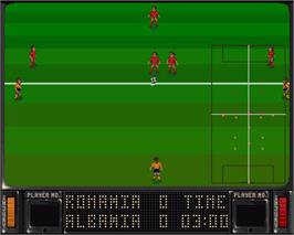 In game image of Striker on the Commodore Amiga.