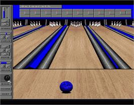 In game image of Strikes -N- Spares on the Commodore Amiga.