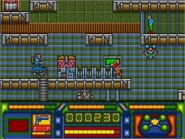 In game image of Stryx on the Commodore Amiga.