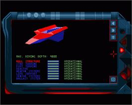 In game image of Subwar 2050 on the Commodore Amiga.