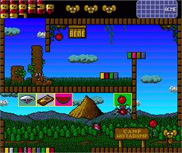 In game image of Summer Camp on the Commodore Amiga.