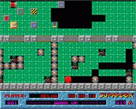 In game image of Supaplex on the Commodore Amiga.