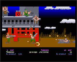 In game image of Super C on the Commodore Amiga.