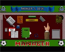 In game image of Super League Manager on the Commodore Amiga.