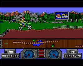 In game image of Super Scramble Simulator on the Commodore Amiga.