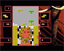 In game image of Super Tetris on the Commodore Amiga.
