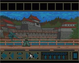 In game image of Sword of Honour on the Commodore Amiga.