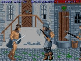 In game image of Sword of Sodan on the Commodore Amiga.