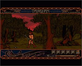 In game image of Targhan on the Commodore Amiga.