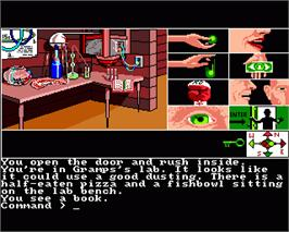 In game image of Tass Times in Tonetown on the Commodore Amiga.
