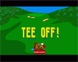In game image of Tee Off on the Commodore Amiga.