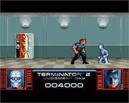 In game image of Terminator 2 - Judgment Day on the Commodore Amiga.