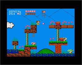 In game image of Terry's Big Adventure on the Commodore Amiga.