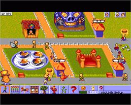 In game image of Theme Park on the Commodore Amiga.