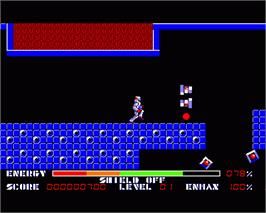 In game image of Thexder on the Commodore Amiga.
