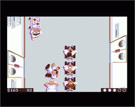 In game image of Three Stooges on the Commodore Amiga.