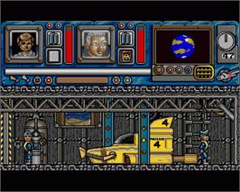 In game image of Thunderbirds on the Commodore Amiga.