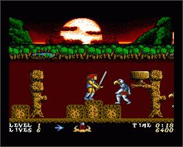 In game image of Thundercats on the Commodore Amiga.