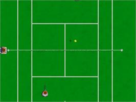 In game image of Tie Break on the Commodore Amiga.