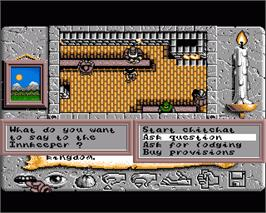In game image of Times of Lore on the Commodore Amiga.