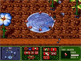 In game image of Tiny Troops on the Commodore Amiga.