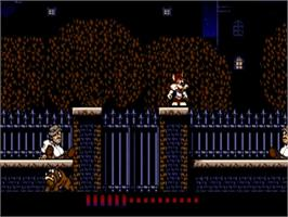 In game image of Titus the Fox: To Marrakech and Back on the Commodore Amiga.