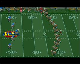 In game image of Tom Landry Strategy Football on the Commodore Amiga.
