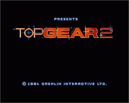 In game image of Top Gear 2 on the Commodore Amiga.