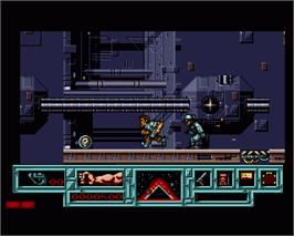 In game image of Total Recall on the Commodore Amiga.
