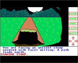 In game image of Transylvania on the Commodore Amiga.