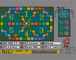 In game image of Trivial Pursuit on the Commodore Amiga.