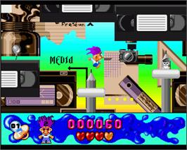 In game image of Trolls on the Commodore Amiga.